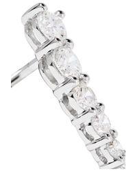 Anita Ko - Metallic Floating 18-karat White Gold Diamond Earrings - Lyst