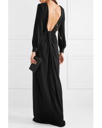 Michael Kors - Black Chain-embellished Open-back Draped Jersey Gown - Lyst