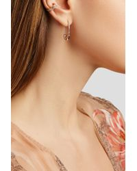 Anita Ko - Multicolor Safety Pin 18-karat Rose Gold Earring - Lyst