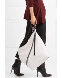 Proenza Schouler - White Hobo Medium Textured-leather Shoulder Bag - Lyst