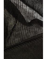 Kiki de Montparnasse - Black Silk-trimmed Ribbed Modal And Cashmere-blend Soft-cup Triangle Bra - Lyst