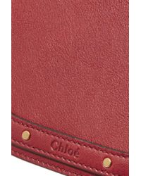 Chloé - Red Nile Bracelet Medium Leather And Suede Shoulder Bag - Lyst
