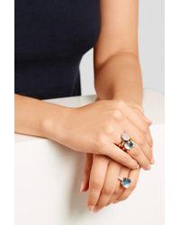 Pomellato - Blue Nudo Classic 18-karat Rose Gold Topaz Ring - Lyst