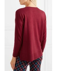 J.Crew - Red Cashmere Sweater - Lyst
