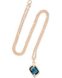 Pomellato - Metallic Ritratto 18-karat Rose Gold, Topaz And Diamond Necklace - Lyst