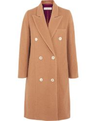Golden Goose Deluxe Brand - Natural Nina Double-breasted Textured-wool Coat - Lyst