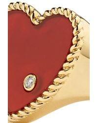 Yvonne Léon - Metallic 18-karat Gold, Agate And Diamond Ring - Lyst