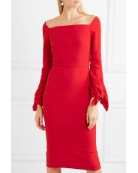 Roland Mouret - Red Mapplewell Bow-detailed Crepe Dress - Lyst