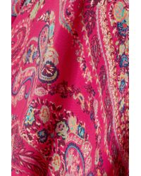 Etro - Pink Printed Silk Crepe De Chine Gown - Lyst