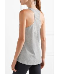 The Upside - Gray Issy Printed Jersey Tank - Lyst