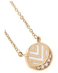 Alice Cicolini - Metallic Memphis Chevron 14-karat Gold, Diamond And Enamel Necklace - Lyst