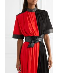 Givenchy - Black Textured Patent-leather Waist Belt - Lyst