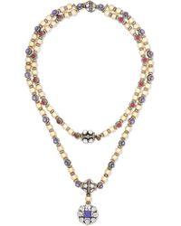 Amrapali - Metallic 18-karat Gold, Sterling Silver And Multi-stone Necklace - Lyst