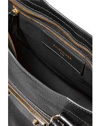 Balenciaga | Black Metallic Edge City Textured-leather Tote | Lyst