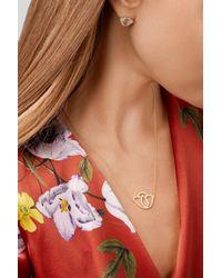 Amrapali - Metallic Thamarai Lotus 18-karat Gold Diamond Necklace - Lyst