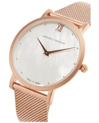 Larsson & Jennings - Metallic Lugano Bernadotte Rose Gold-plated Mother-of-pearl Watch - Lyst