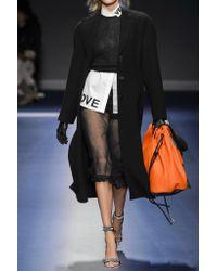 Versace - Black Embroidered Tulle Midi Skirt - Lyst