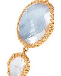Larkspur & Hawk - Metallic Sadie Gold-dipped Quartz Earrings - Lyst