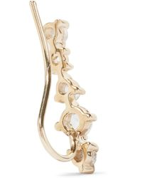 Catbird - Metallic Snow Queen Gold Diamond Earring - Lyst