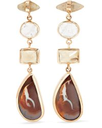 Melissa Joy Manning - Metallic 14-karat Gold Multi-stone Earrings - Lyst