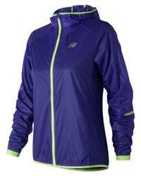 New Balance - Blue Nyc Half Ultralight Packable Jacket - Lyst