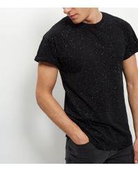 New Look | Black Spray Wash T-shirt for Men | Lyst
