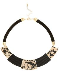 New Look - Black Shell Panel Rope Necklace - Lyst
