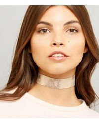 New Look - Multicolor Rose Gold Iridescent Choker - Lyst