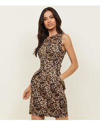 5ef835a888a2 Mela Brown Leopard Print Tulip Dress in Brown - Lyst