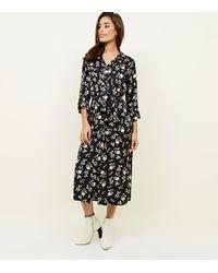 68227ddc14f New Look Maternity Black Leopard Print Shirt Dress in Black - Lyst