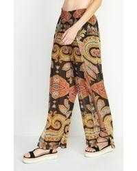Nicole Miller - Multicolor Beach Blanket Pants - Lyst
