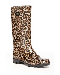 Nicole Miller | Multicolor Rainy Day Leopard-Print Boots | Lyst