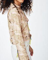Nicole Miller - Multicolor Safari Camo Moto Jacket - Lyst