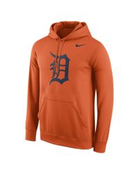 Nike | Orange Logo (mlb Tigers) Men's Performance Hoodie for Men | Lyst