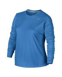 Nike - Blue Dry Miler (plus - Lyst