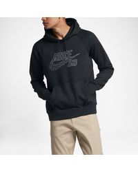 2cdbbf2c681b Lyst - Nike Sb Icon Grid Fill Pullover Men s Hoodie in Black for Men