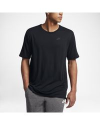 Nike - Black Sportswear Droptail Bonded Mesh Men's T-shirt for Men - Lyst