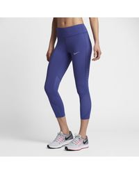 Nike | Purple Power Epic Lux Women's Running Crops | Lyst