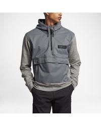 Nike | Gray Sb Everett Repel Anorak Men's Hoodie for Men | Lyst