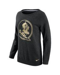 Nike - Black College Championship Drive Boyfriend Crew (florida State) Women's Sweatshirt - Lyst