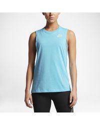 Nike | Blue Dry Women's Running Tank | Lyst