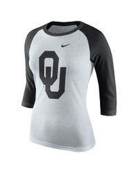 Nike | Black College Tri Raglan (oklahoma) Women's 3/4 Sleeve T-shirt | Lyst