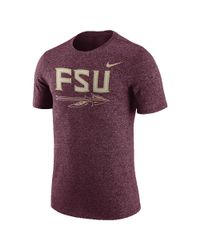 Nike - Purple College Marled Logo (florida State) Men's T-shirt for Men - Lyst