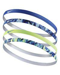 Nike - Blue Girl's Assorted Headbands 4pk (not) - Lyst