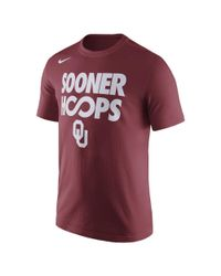 Nike - Red College Basketball (oklahoma) Men's T-shirt for Men - Lyst