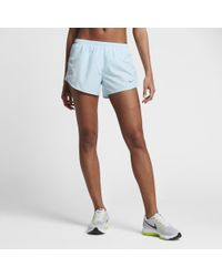 "Nike | Blue Dry Tempo Women's 3"" Running Shorts 