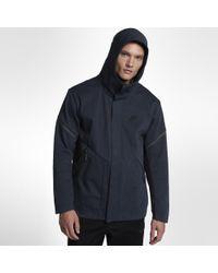 8fa1f82bf1abd Nike Sportswear Tech Fleece Repel Windrunner Men's Jacket in Blue ...