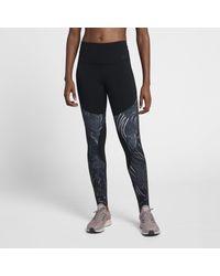 Nike - Black Dri-fit Power Mid-rise Training Tights - Lyst