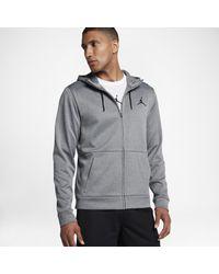 e100b080403993 Nike Jordan Therma 23 Alpha Full-zip Hoodie in Gray for Men - Lyst