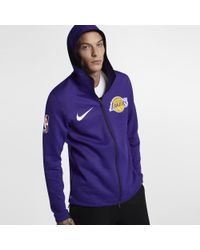54a554f8 Nike Los Angeles Lakers Therma Flex Showtime Men's Nba Hoodie in ...